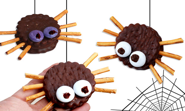 quick halloween recipe last minute ideas kids treats spiders salt sticks