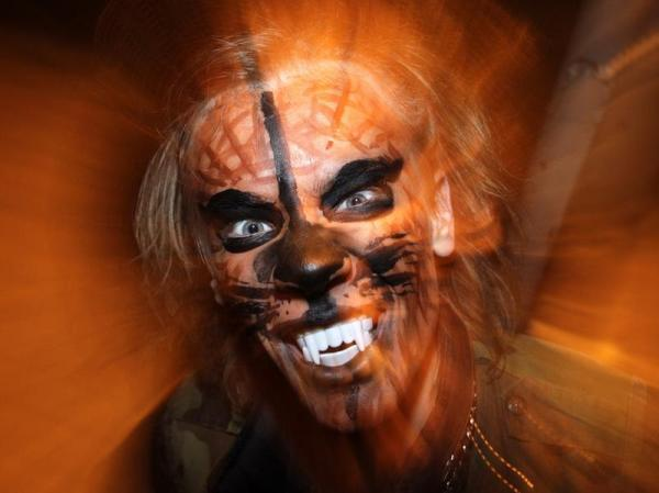 scary wolverine halloween makeup ideas guys faux teeth