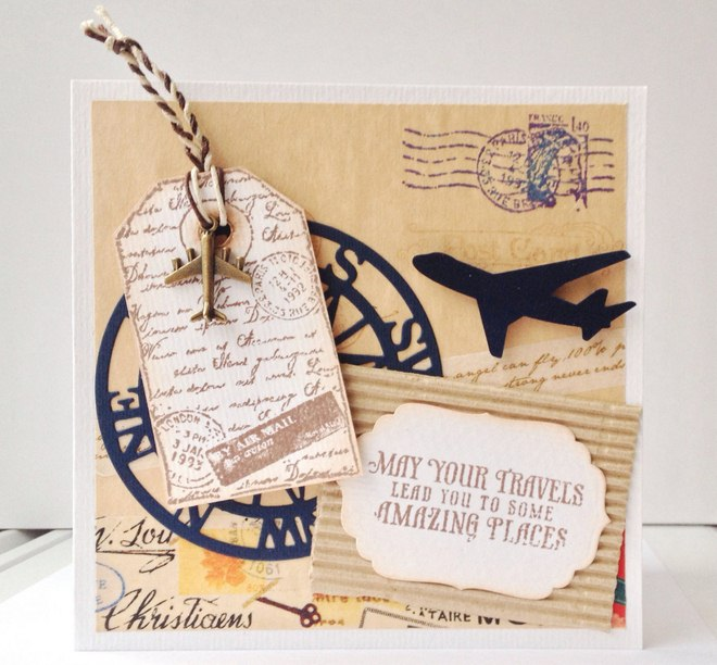 wrap christmas gift cards ideas travel scrapbooking airplanes