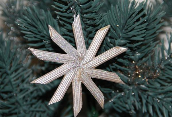 cChristmas crafts for kids tree ornaments pasta silver star