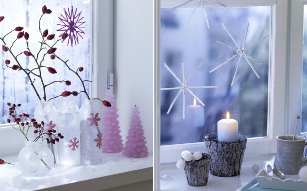 decorate your windows christmas decorations display lights candles