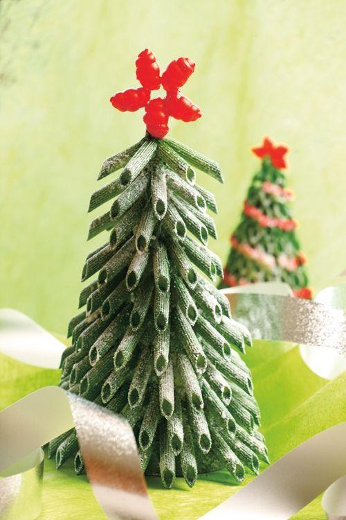 diy mini christmas tree tabletop green fake snow