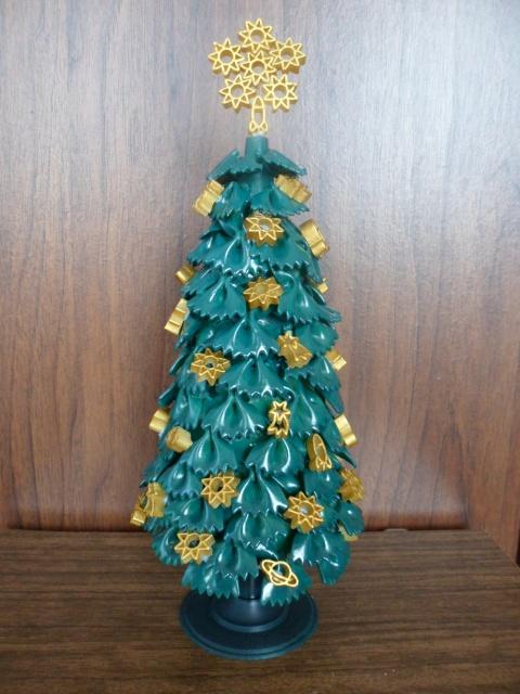 diy tabletop tree christmas gold ornaments ribbons