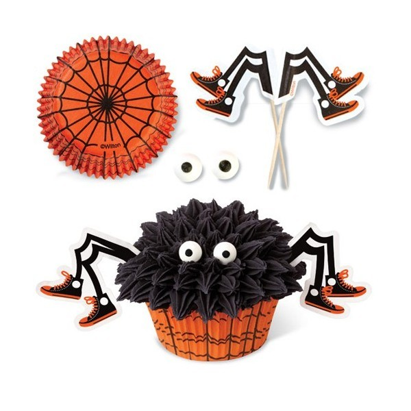 halloween cupcake decorations ideas eyes legs sticks