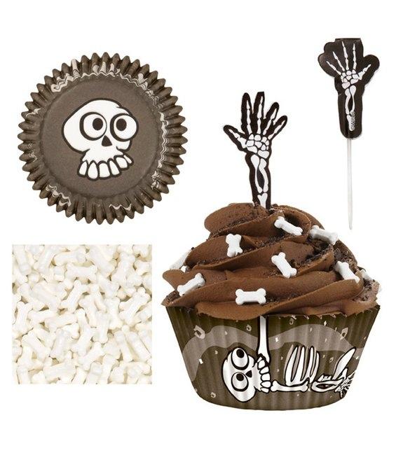 halloween cupcake skeletons spooky ideas bones