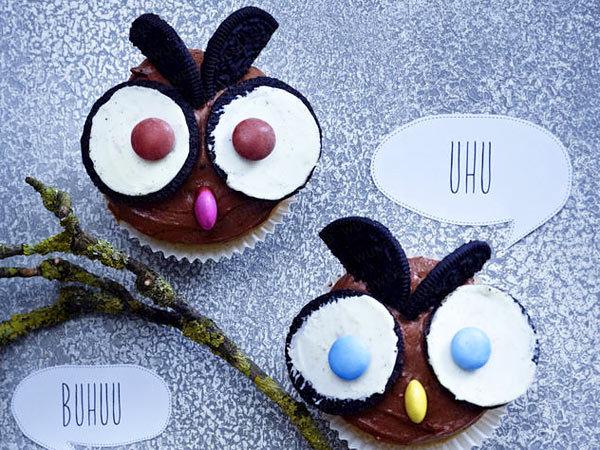 halloween cupcakes owls oreo ideas