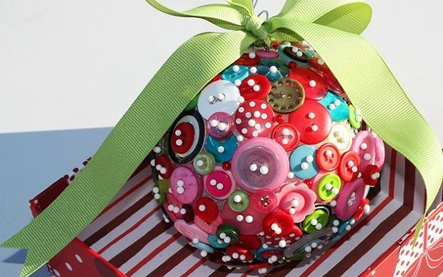 homemade christmas tree ornaments 20 easy diy ideas - Christmas Decoration Craft Ideas