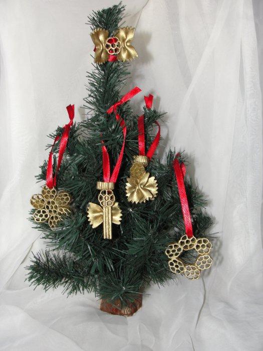 homemade pasta chritsmas tree ornaments snowflakes angels