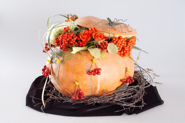 Flower pumpkin centerpieces and diy ideas for your fall