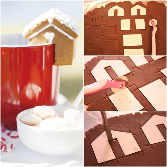 christmas desserts hot chocolate gingerbread houses
