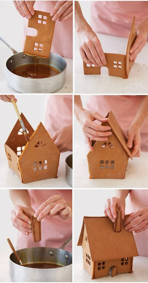 christmas gingerbread house tutorial-assembling-house