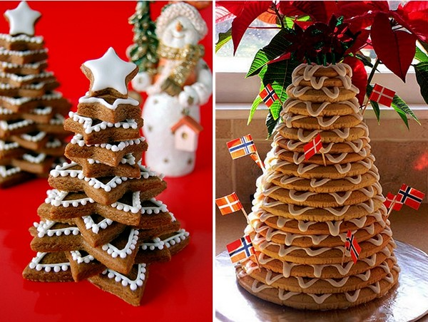 cookie edible christmas trees frosting stars kids fun