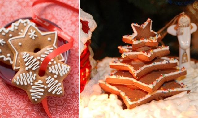 cute christmas treats gingerbread cookies ornaments stars christmas tree
