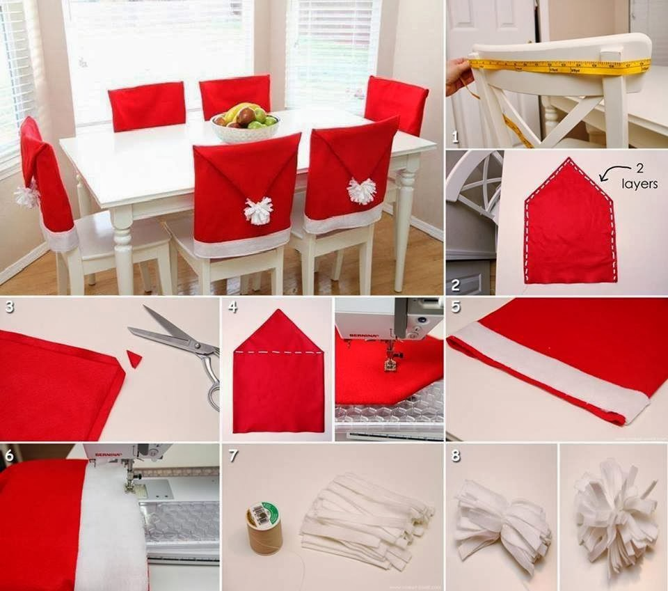 diy-christmas-decorations-chairs-red-santa-hats