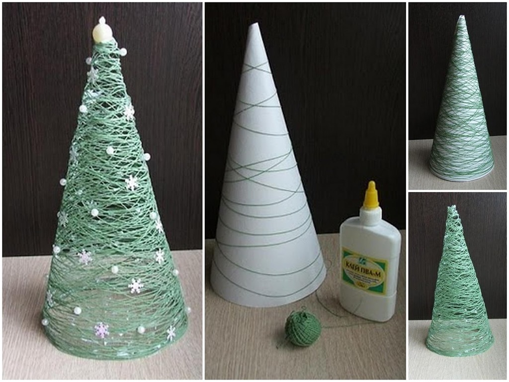 diy-christmas-decorations-christmas-trees-glue