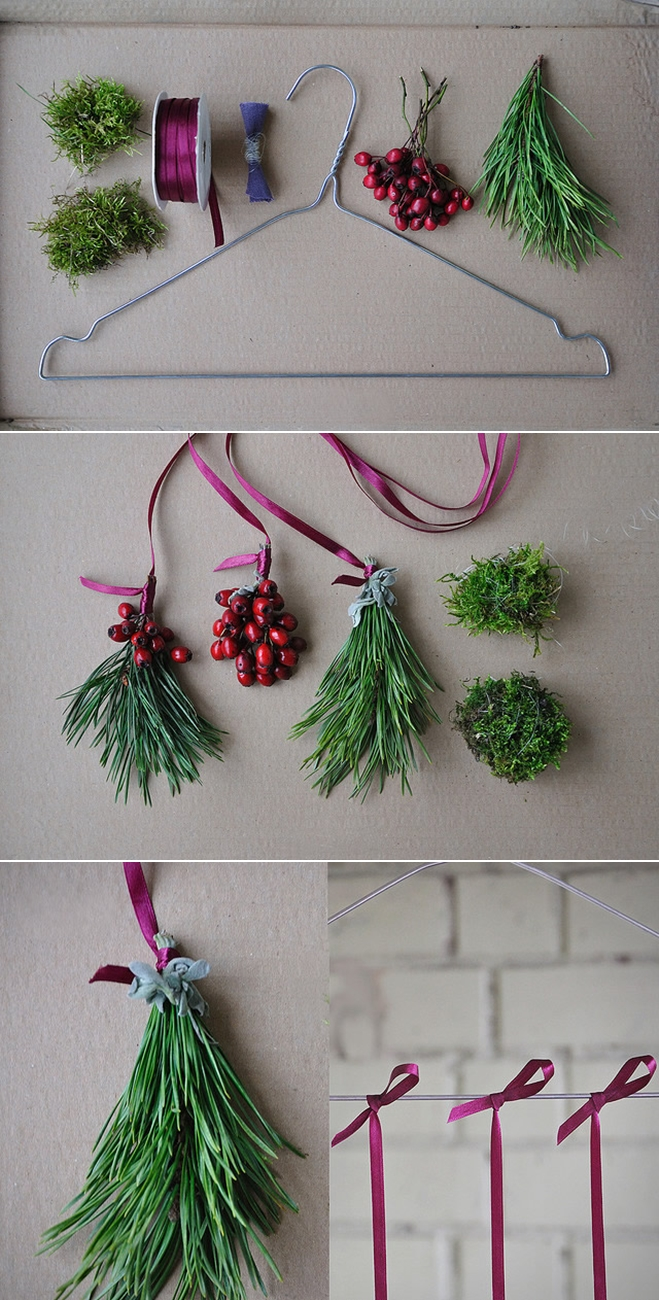diy-christmas-decorations-fragnant-evergreens-berries