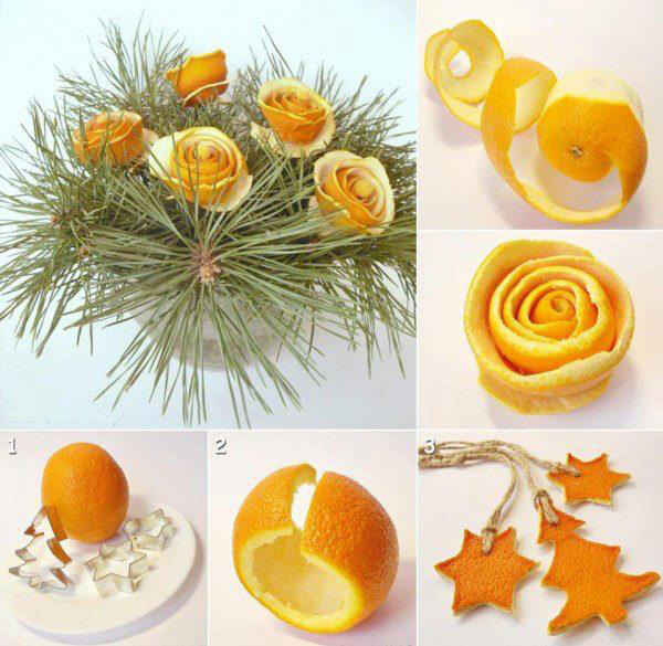 diy christmas decorations holiday home orange roses centerpiece