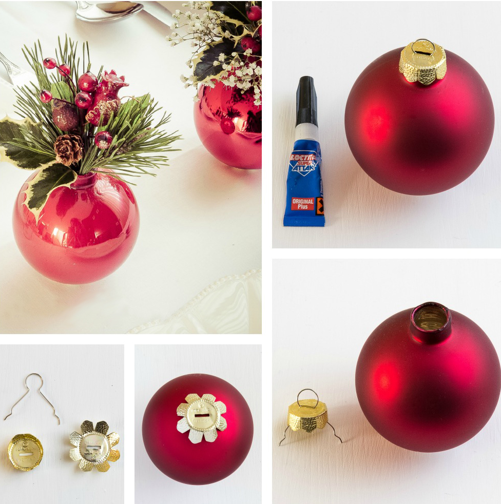 diy christmas decorations vase red christmas ball - Christmas Ball Decorations