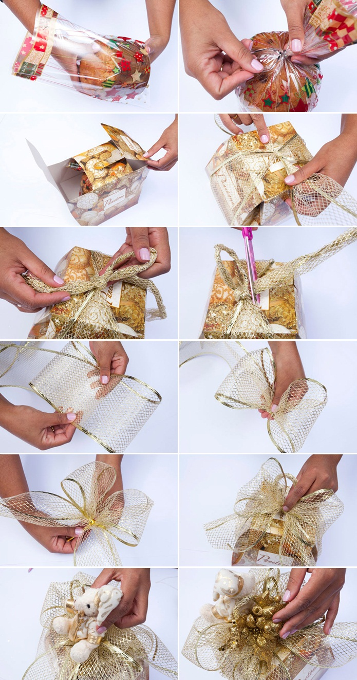 Groovy Diy Christmas T Wrap Ideas Handmade Bows T Bags And Toppers Easy Diy Christmas Decorations Tissureus