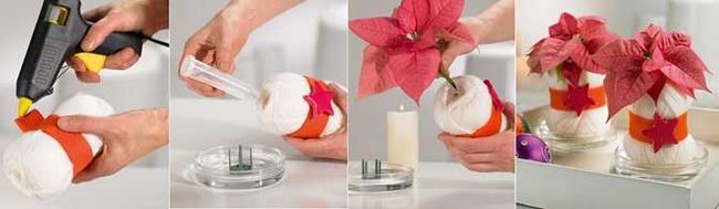 diy-christmas-table-decor-poinsettia-yarn-ball