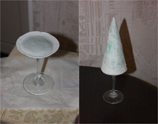 handmade-christmas-trees-broken-wine-glass-foot-stem