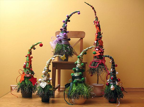handmade christmas trees ideas unusual form peak