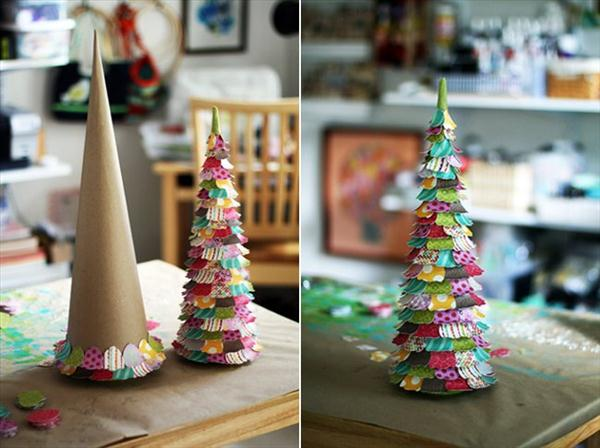 handmade christmas trees paper crafts kids