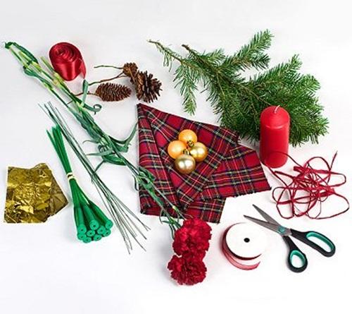 homemade christmas gift arrangement diy materials