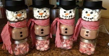 homemade-christmas-gift-ideas-diy-snowmen-jars-paper-hats