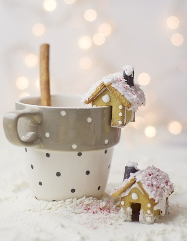 homemade christmas treats kids gingerbread mini house hot choco