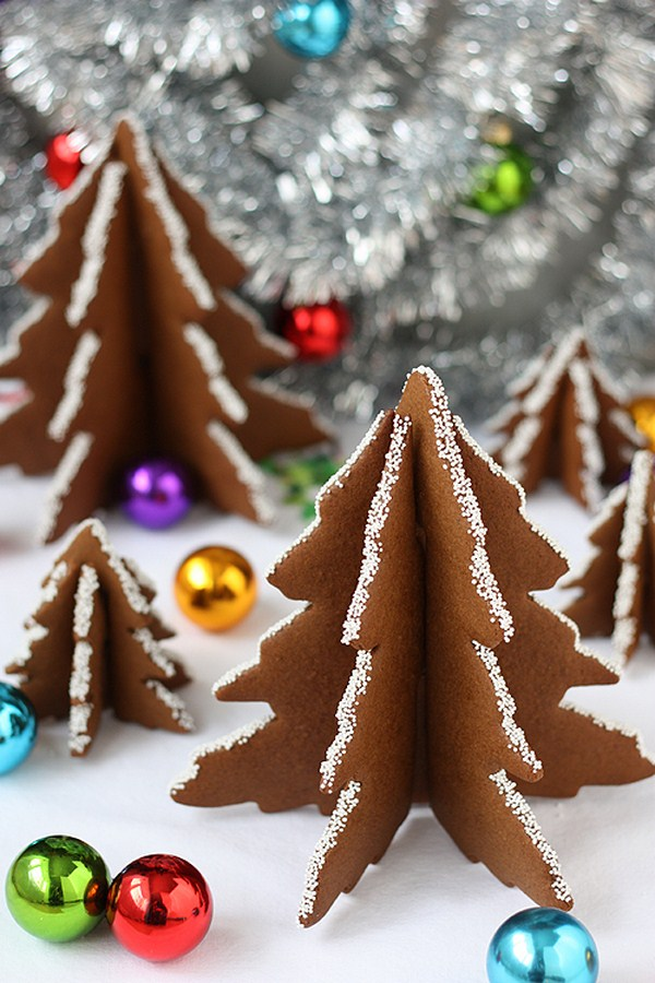 homemade christmas trees gingerbread forms
