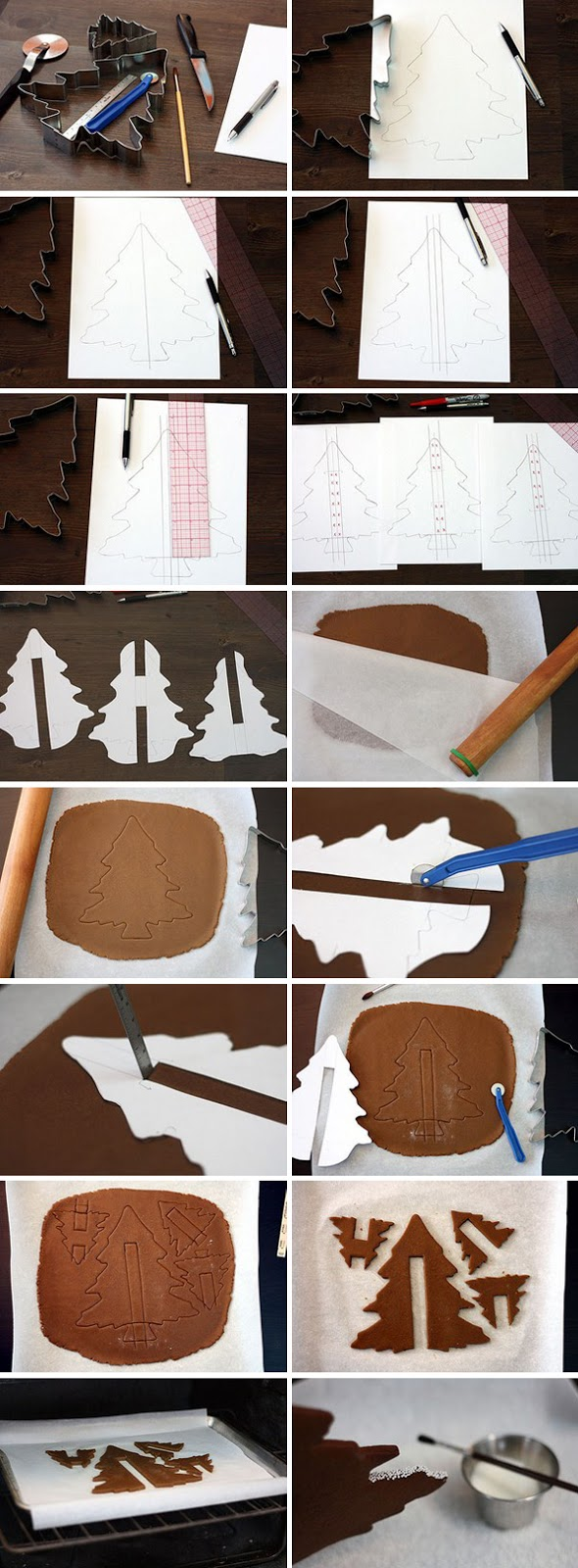 baking christmas tree idea tutorial gingerbread dough