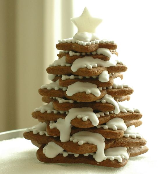 Edible Gingerbread Christmas Tree Decorations : Homemade edible christmas trees stars cookies frosting