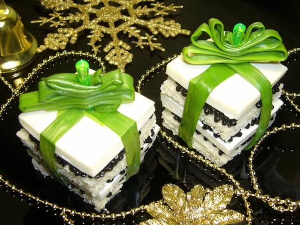 christmas appetizers party food holiday themed cheese gift green onion