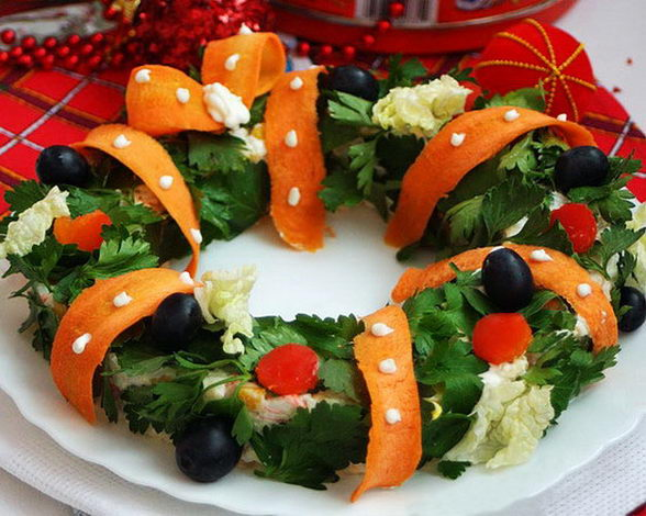christmas party appetizers egg cheese salat christmas wreath ideas