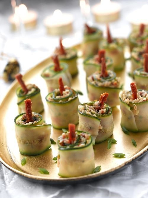 christmas party appetizers ideas christmas candles cucumber