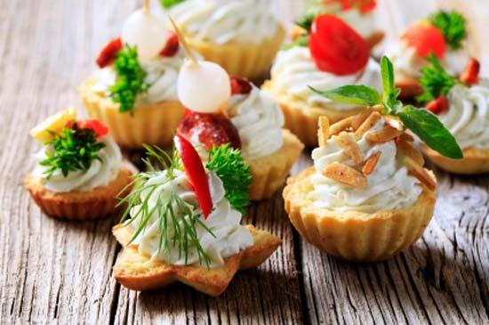 christmas party appetizers ideas salty tarts cream cheese