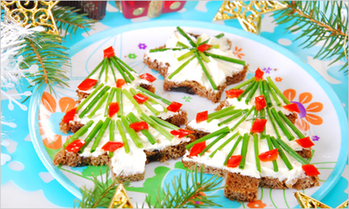 christmas party appetizers kids food ideas sandwiches christmas tree