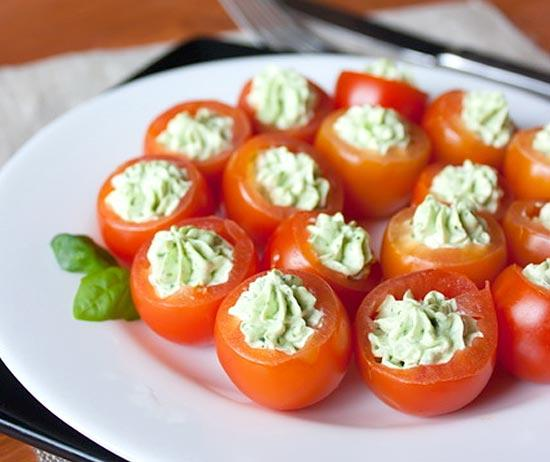 christmas party finger food cherry tomatoes ideas
