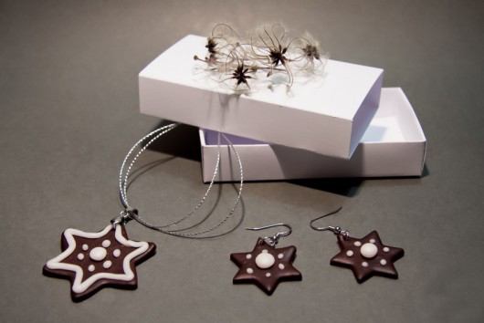 handmade-christmas-gift-polymer-clay-jewelry-star-shaped