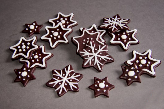 Handmade Christmas ornaments  polymer-clay-stars-white-decoration