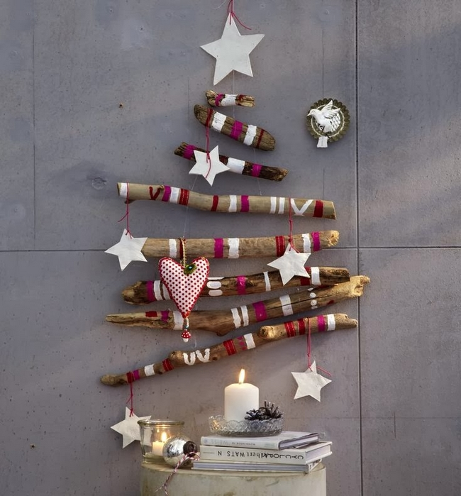last-minute-diy-christmas-decorations-wooden-sticks-wall-christmas-tree