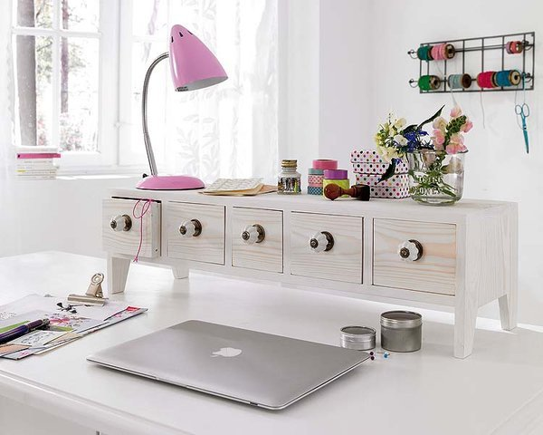 ... build a mini cupboard with drawers and pick an arrangement that best