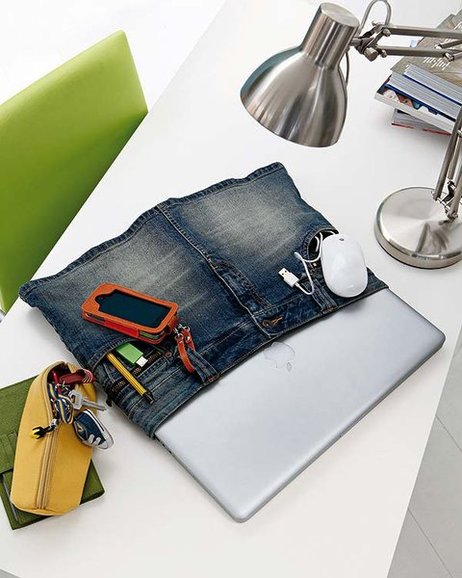 home office organization ideas laptop old mini jeans skirt pocket