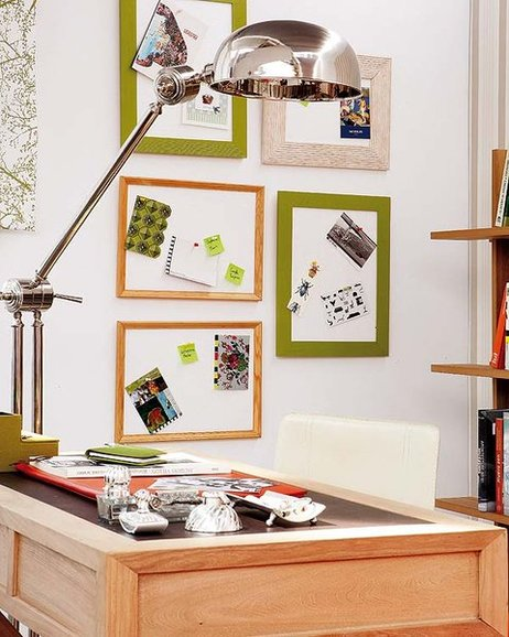 diy home office organization ideas memory boards frames styrofoam pins
