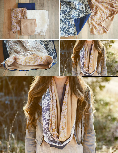 diy infinity scarf easy ideas lovely pattern