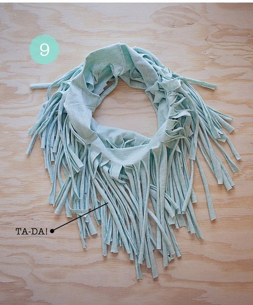diy scarf ideas old t shirt no sewing tutorial