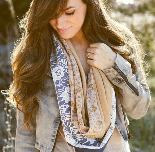 diy scarves easy ideas old scraps lace pattern light colours