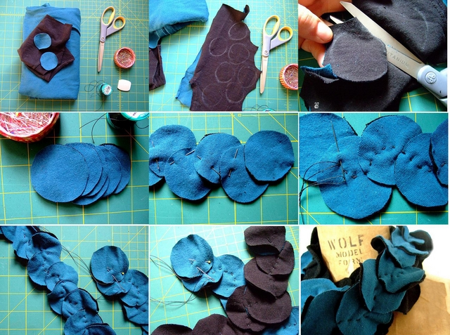 make scrap scarf easy ideas tutorial cut piesces