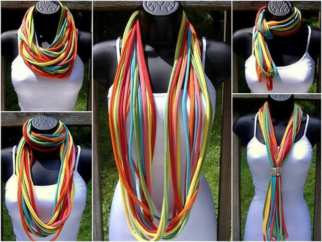 t shirt scarf easy ideas different ways wear scarves diy t shirt cutting designs ideas - T Shirt Cutting Designs Ideas